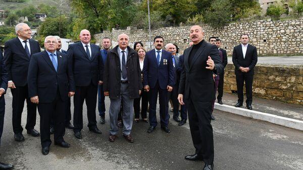 Prezident İlham Əliyev Xocavəndə səfər edib  - Sputnik Азербайджан