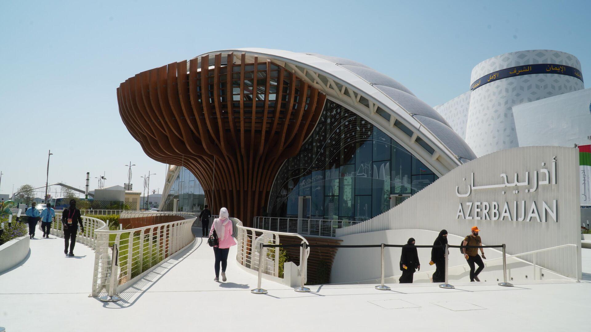 Expo 2020 Dubai beynəlxalq sərgisində Azərbaycanın milli pavilyonu - Sputnik Azərbaycan, 1920, 12.10.2021