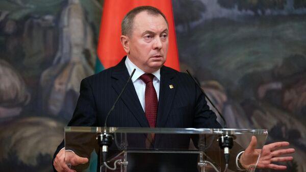 Министр иностранных дел Белоруссии Владимир Макей - Sputnik Азербайджан
