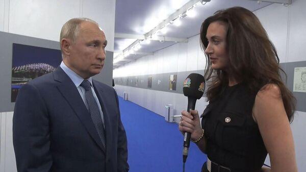 Интервью Путина CNBC: о санкциях, энергетике и смерти доллара - Sputnik Азербайджан