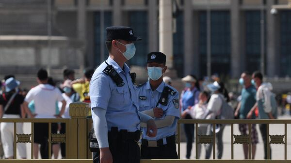Полицейские в Пекине, фото из архива - Sputnik Азербайджан