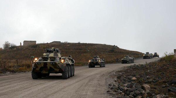 Командно-штабные учения ВС АР, проводимые на территории Лачинского района - Sputnik Азербайджан