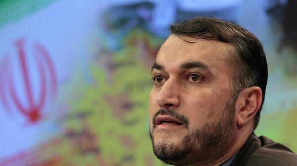 Министр иностранных дел Ирана Хосейн Амир-Абдоллахиан - Sputnik Азербайджан