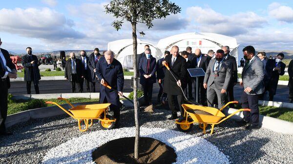 Ильхам Алиев и Реджеп Тайип Эрдоган заложили фундамент агропарка в Зангиланском районе - Sputnik Азербайджан