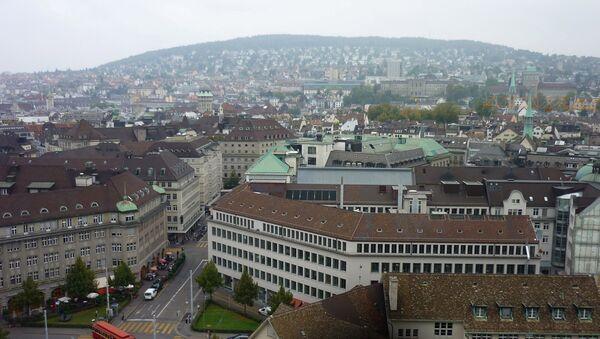 Вид на швейцарский Цюрих, фото из архива - Sputnik Азербайджан
