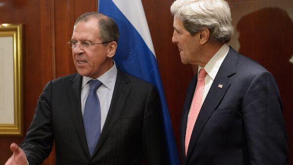 Министр иностранных дел России Сергей Лавров и госсекретаря США Джона Керри - Sputnik Azərbaycan