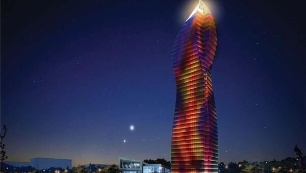 Самое высокое здание Баку SOCAR TOWER - Sputnik Азербайджан