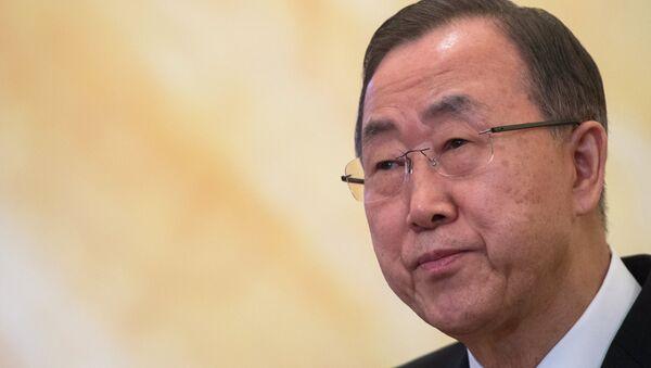 UN Secretary General Ban Ki-moon - Sputnik Азербайджан