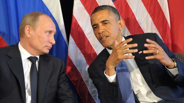 Владимир Путин-Барак Обама - Sputnik Азербайджан