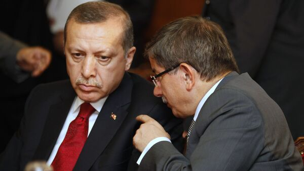 Турция Реджеп Тайип Эрдоган Ахмет Давутоглу - Sputnik Азербайджан
