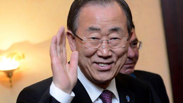 Прилет генерального секретаря ООН Пан Ги Муна в Москву - Sputnik Азербайджан