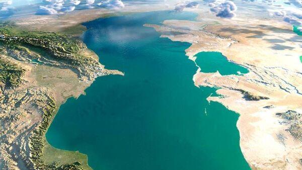 Xəzər dənizi yuxarıdan görünüş - Sputnik Azərbaycan