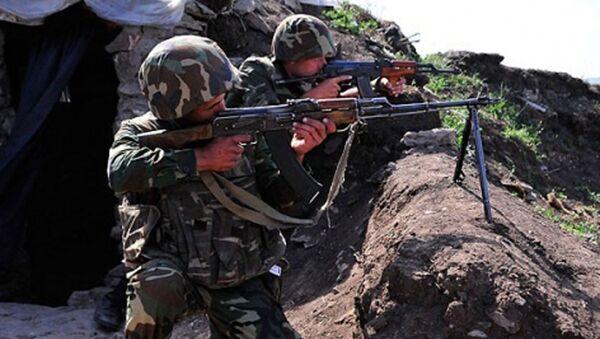 ВС Армении обстреляли азербайджанские позиции - Sputnik Азербайджан