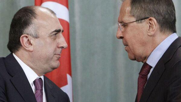Elmar Məmmədyarov və Sergey Lavrov - Sputnik Azərbaycan