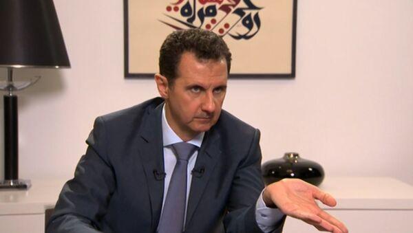 Президент Сирии Башар Асад назвал события в Ираке истоком конфликта в стране - Sputnik Azərbaycan