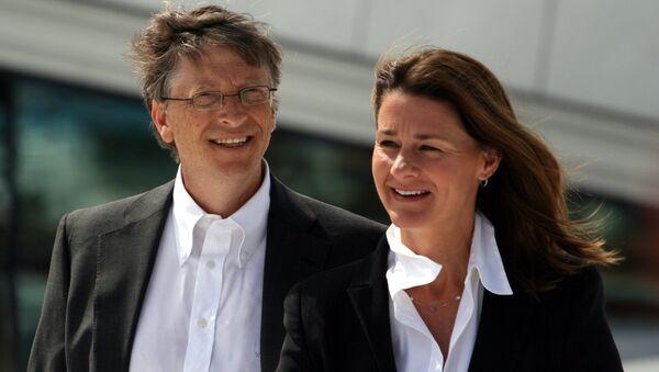 Bill Gates və onun xanımı Melinda Gates - Sputnik Azərbaycan