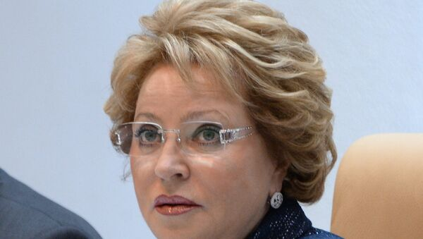 спикер Совета Федерации Валентина Матвиенко - Sputnik Азербайджан