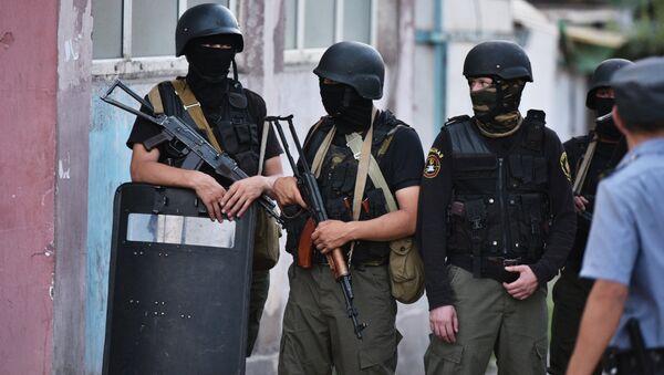Спецоперация по ликвидации боевиков в Киргизии - Sputnik Азербайджан