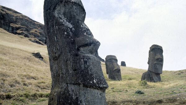 Памятники древнейшего полинезийского искусства - каменные изваяния - моаи - Sputnik Азербайджан