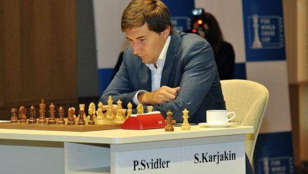 Сергей Карякин победил Петра Свидлера в финал Кубка мира по шахматам в Баку - Sputnik Азербайджан