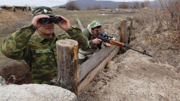 Наблюдательный пост миротворческих сил в Южной Осетии - Sputnik Азербайджан
