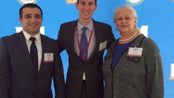 Сотрудники фонда «Карабах» на выставке Сфера партнерства в Госдепе США. - Sputnik Азербайджан