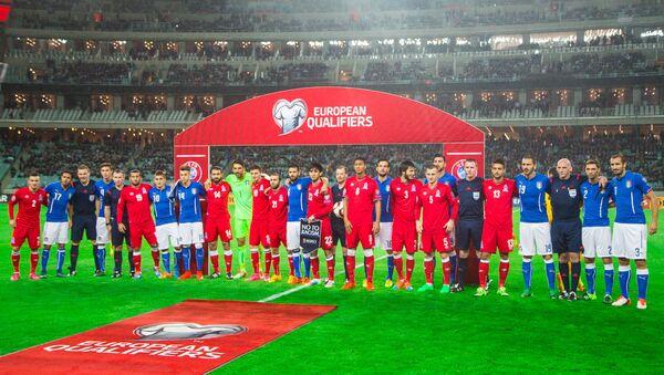 Отборочный матч чемпионата Европы-2016 по футболу Азербайджан-Италия - Sputnik Азербайджан