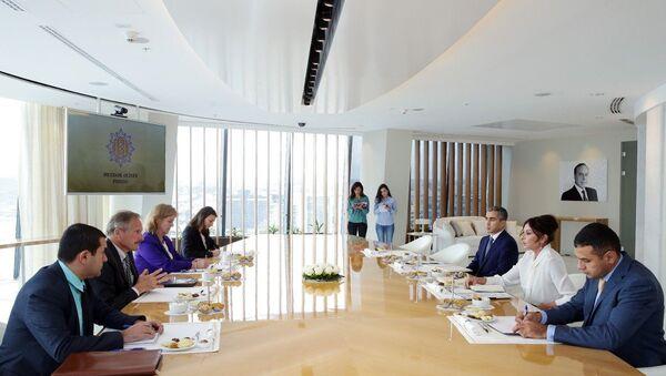 Встреча первой леди Азербайджана Мехрибан Алиевой с послом США Робертом Секутой. - Sputnik Азербайджан