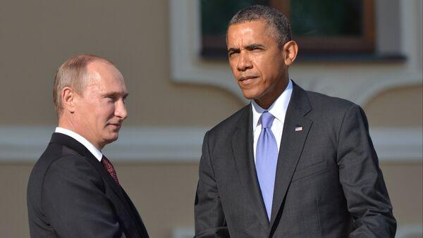 Владимир Путин и Барак Обама. - Sputnik Азербайджан