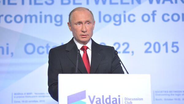 Президент РФ В.Путин принял участие в сессии Международного дискуссионного клуба Валдай - Sputnik Азербайджан