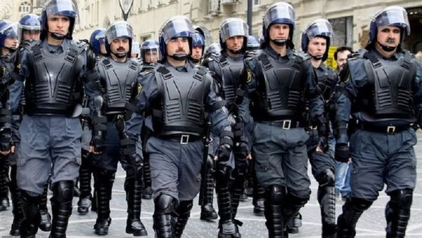 азербайджанские полицейские - Sputnik Азербайджан