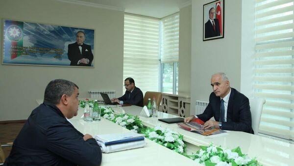 Встреча министра экономики и промышленности Азербайджана Шахина Мустафаева с жителями южных регионов республики. - Sputnik Азербайджан
