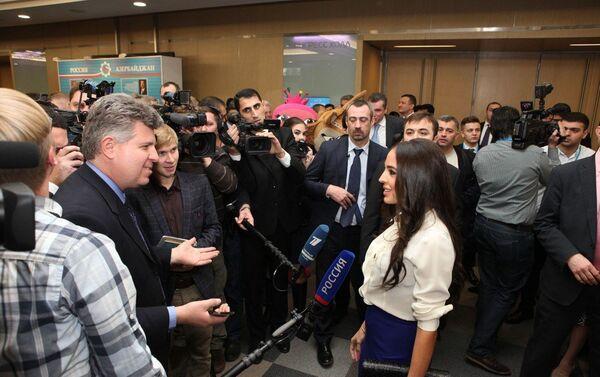 Вице-президент Фонда Гейдара Алиева Лейла Алиева на форуме АМОР в Москве - Sputnik Азербайджан