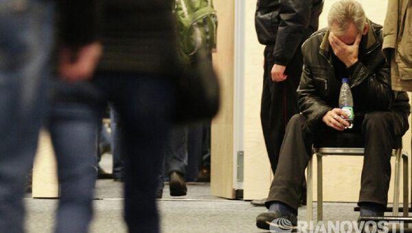 Родственники погибших в Пулково скорбят по близким. - Sputnik Азербайджан