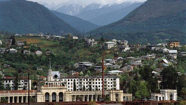 Железнодорожный вокзал в Сухуми - Sputnik Азербайджан