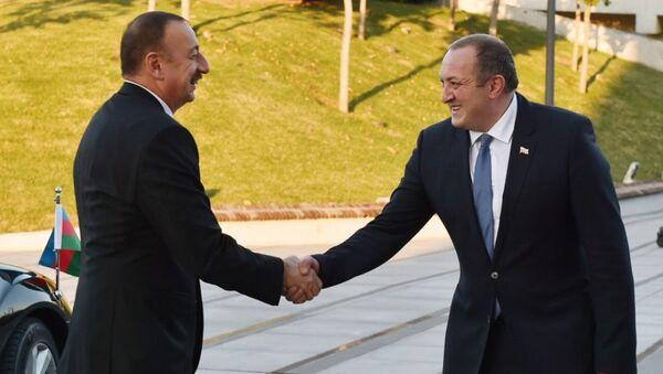Церемония официальной встречи президента Азербайджана Ильхама Алиева в Тбилиси - Sputnik Азербайджан