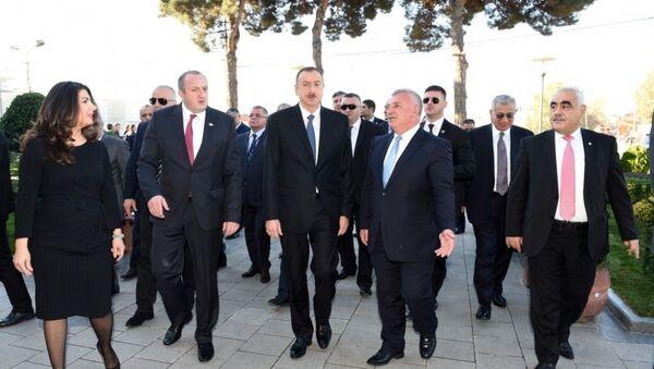 Президенты Грузии и Азербайджана ознакомились с образовательным центром Дом чая в Марнеульском районе Грузии - Sputnik Азербайджан