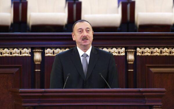 Президент Ильхам Алиев выступил на мероприятии, посвященном 70-летнему юбилею Национальной академии наук АР - Sputnik Азербайджан