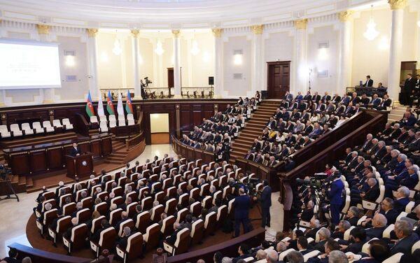 Мероприятие, посвященное 70-летнему юбилею Национальной академии наук АР - Sputnik Азербайджан