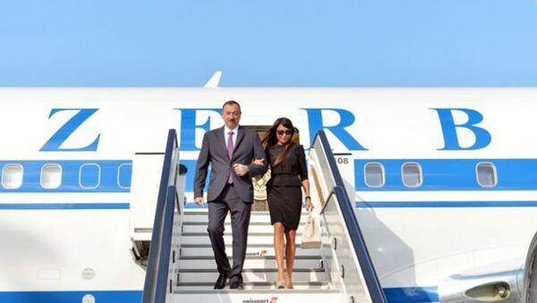 Ильхам и Мехрибан Алиевы прибыли в Брюссель - Sputnik Азербайджан
