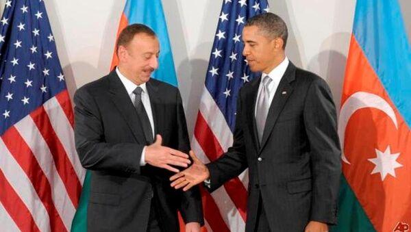 Azərbaycan prezidenti İlham Əliyev və ABŞ prezidenti Barak Obama - Sputnik Azərbaycan