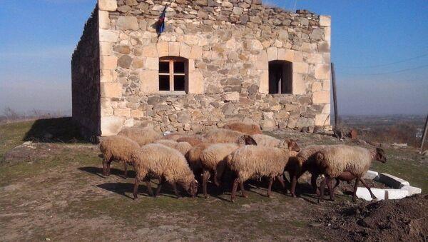 Yerlə yeksan olunan məscid - Sputnik Azərbaycan