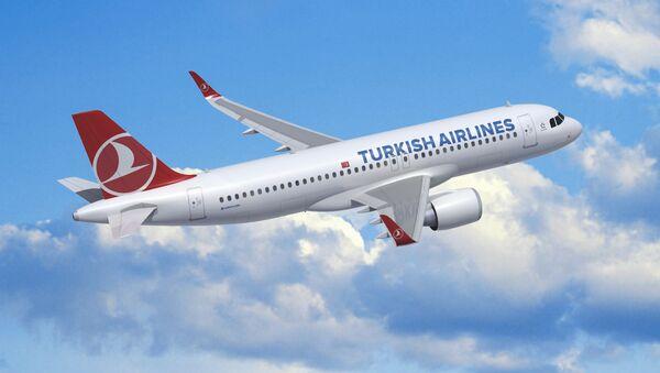 Türk Hava Yollarının təyyarəsi - Sputnik Azərbaycan