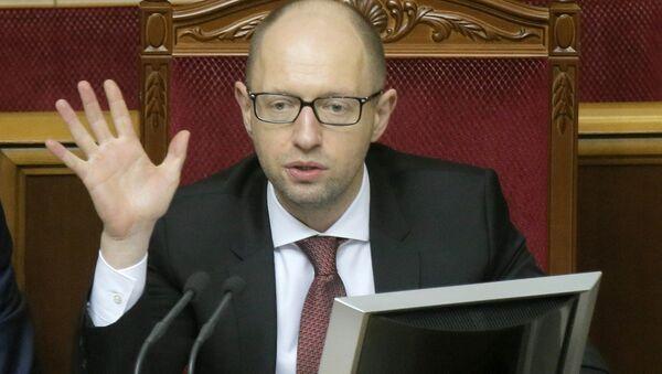 Ukrainian Prime Minister Arseniy Yatsenyuk - Sputnik Азербайджан