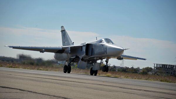 Российская боевая авиация на авиабазе Хмеймим в Сирии - Sputnik Азербайджан
