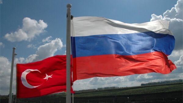 Türkiyə və Rusiya bayrağı - Sputnik Azərbaycan