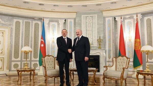 Встреча президентов Азербайджана и Беларуси в Минске - Sputnik Азербайджан