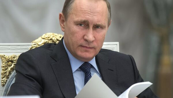 Президент РФ В.Путин - Sputnik Азербайджан