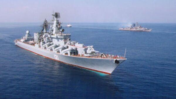 Гвардейский ракетный крейсер Черноморского флота Москва - Sputnik Азербайджан