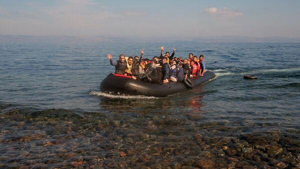 Беженцы с Ближнего Востока. Архивное фото - Sputnik Азербайджан